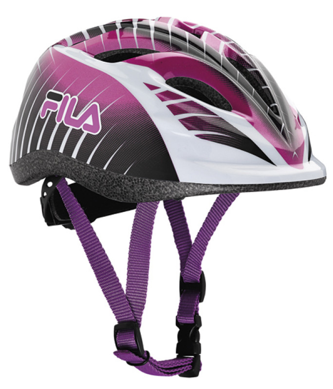 FILA JUNIOR GIRL HELMET BLACK/VIOLET